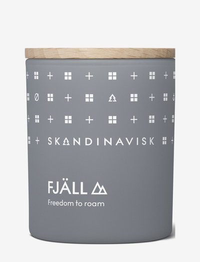 FJÅLL Scented Candle with lid 65g - doftljus - dark grey