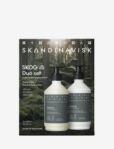 SKANDINAVISK SKOG Duo set(450ml Handwash and Body Lotion) - hudvårdsset - forrest green