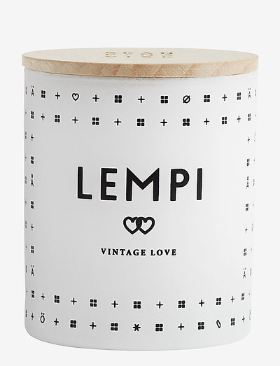 LEMPI Scented Candle - WHITE/BLACK