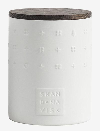 LYSNING Ceramic Scented Candle - huonetuoksut - white