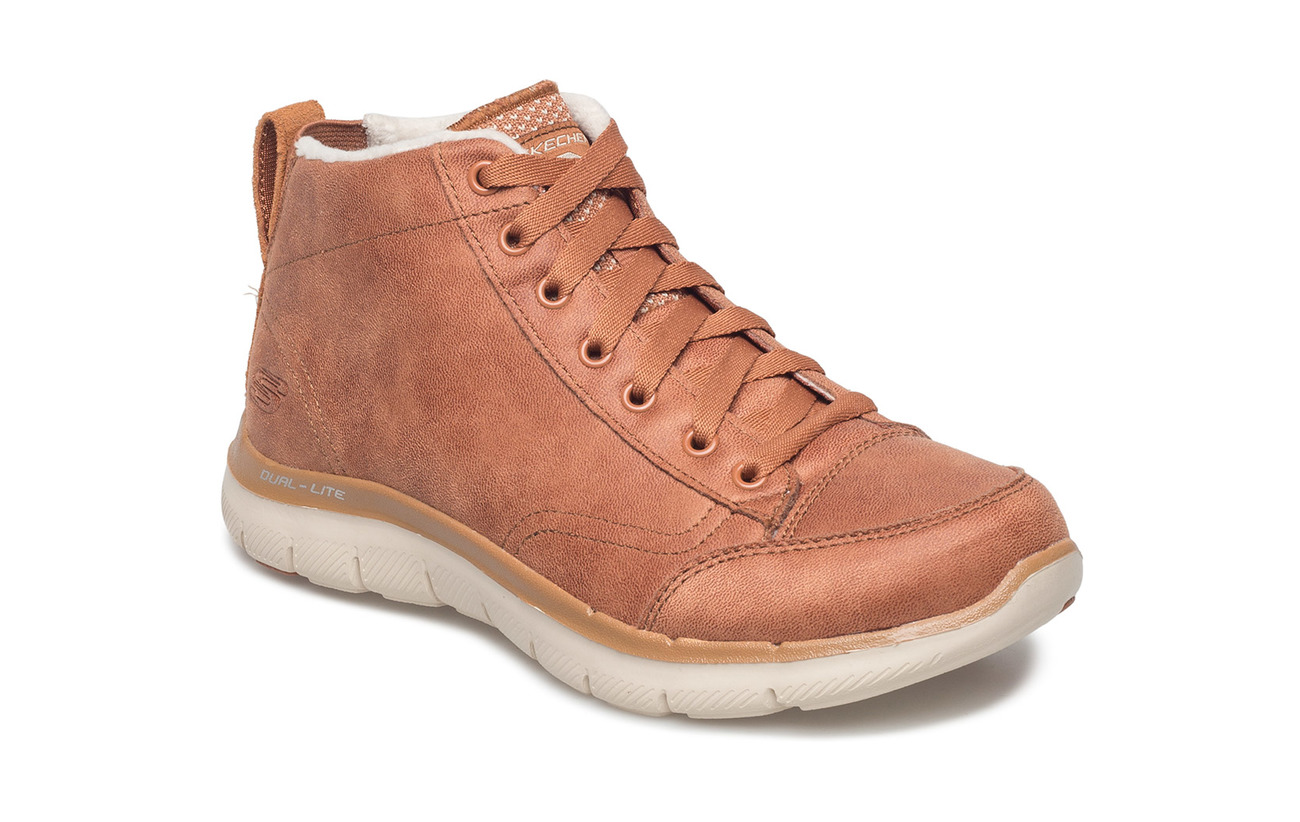 Skechers Womens Flex Appeal 2.0 - Warm Wishes - CSNT CHESTNUT