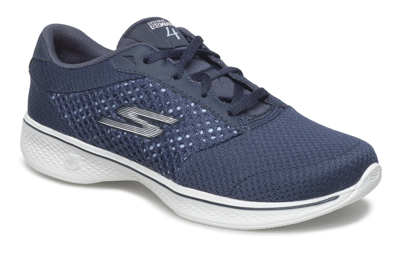Skechers Womens GOwalk 4 - Exceed - NVW NAVY WHITE