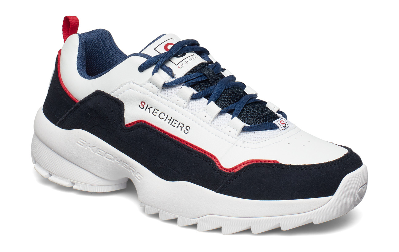 Skechers Mens Tidao - WNVR WHITE NAVY RED