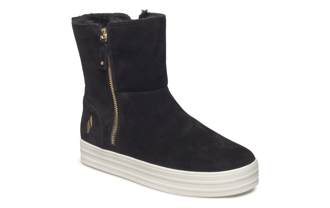 Skechers Womens Originals: Double Up - Fall in Line - BLK BLACK
