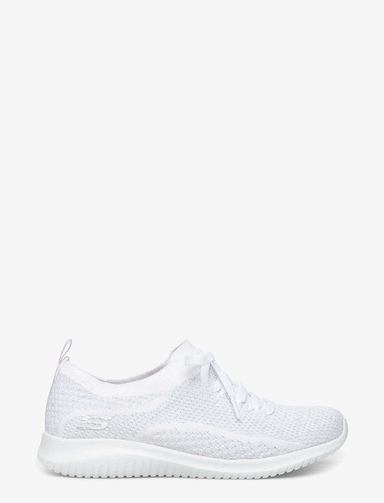 Skechers - Womens Ultra Flex - matalavartiset tennarit - wsl white silver