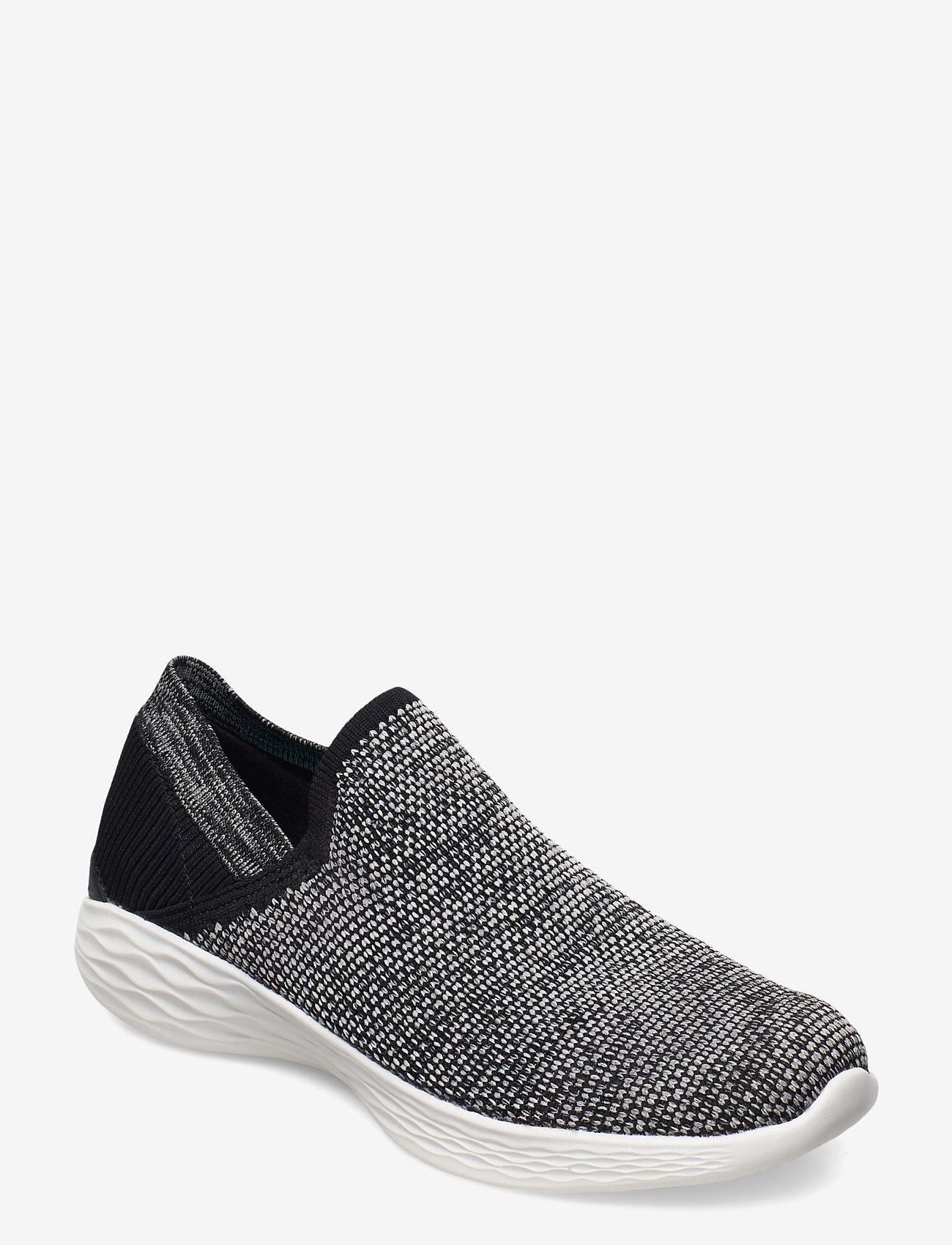 Skechers - Womens YOU - Rise - slip-on sneakers - bkw black white - 0