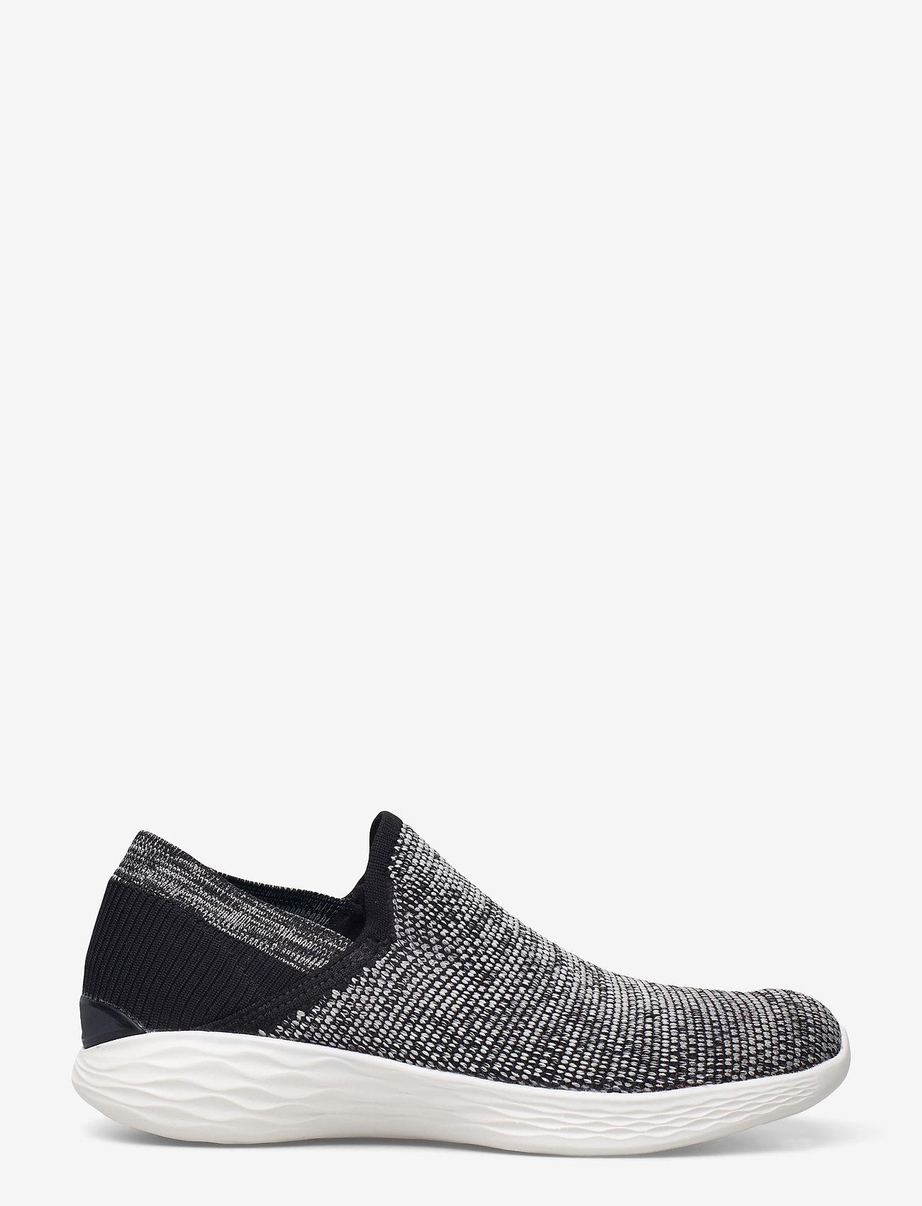 Skechers - Womens YOU - Rise - slip-on sneakers - bkw black white - 1