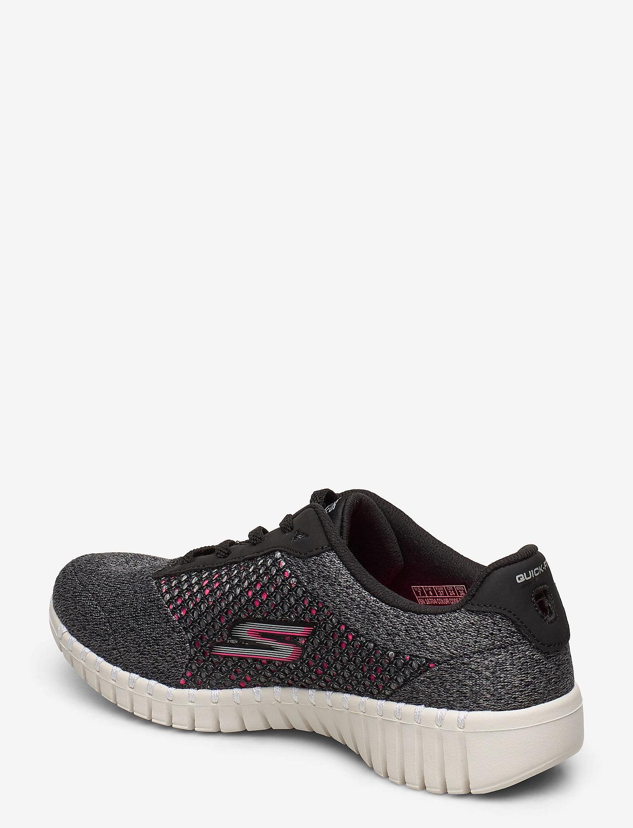 Womens Go Walk (Bkhp Black Hot Pink) - Skechers
