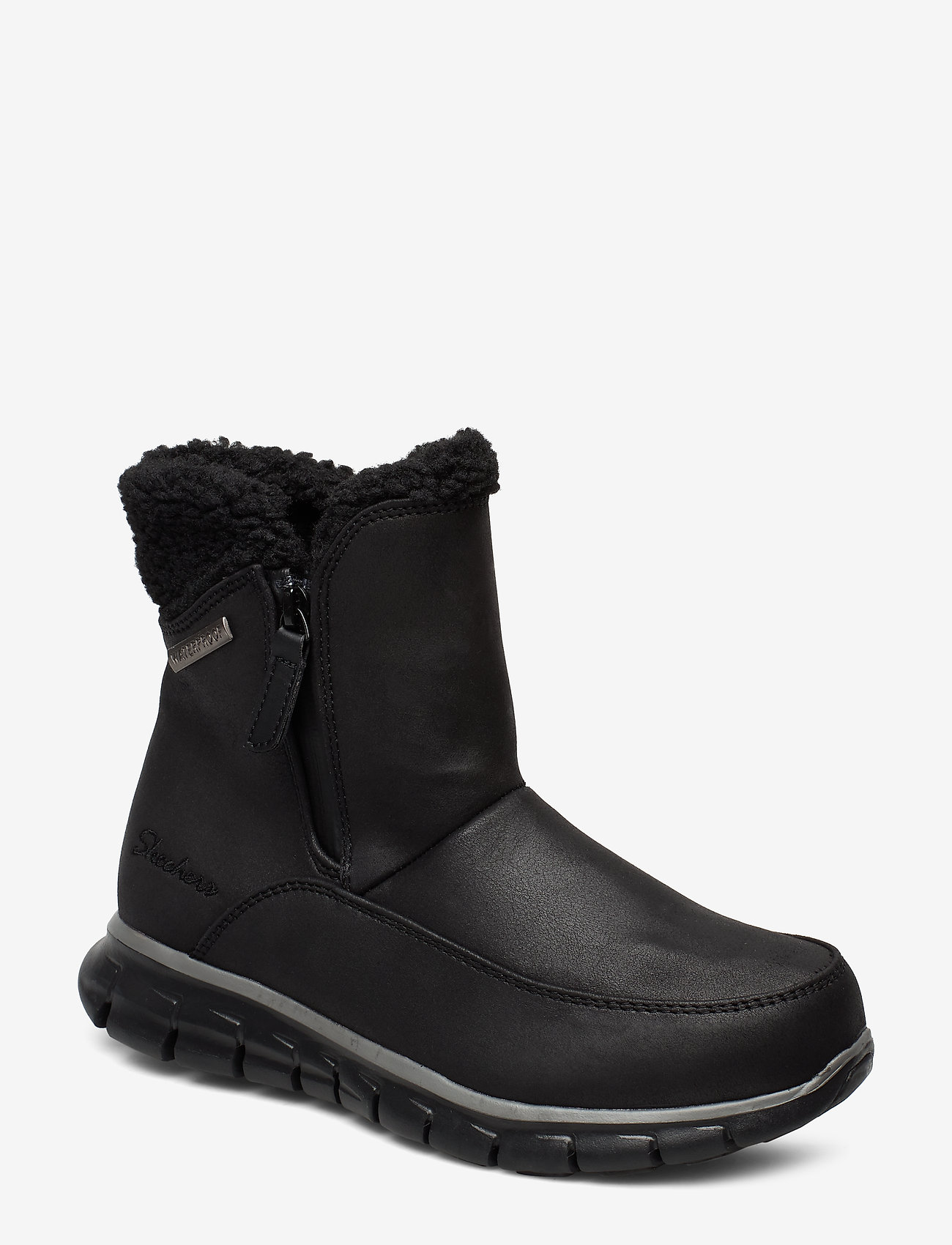 Skechers - Womens Synergy - Waterproof - flade ankelstøvler - bbk black - 1
