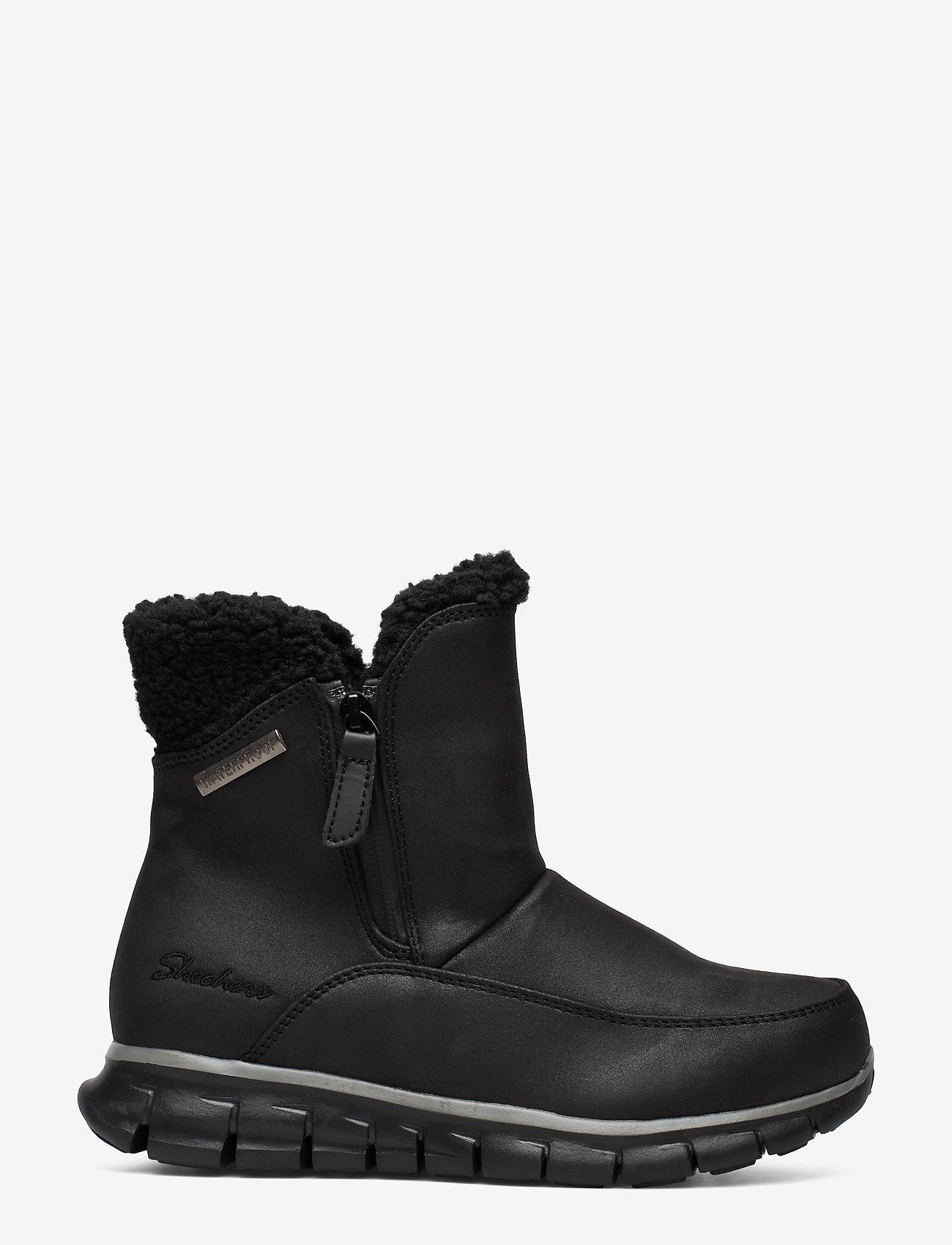 Skechers - Womens Synergy - Waterproof - flade ankelstøvler - bbk black - 0