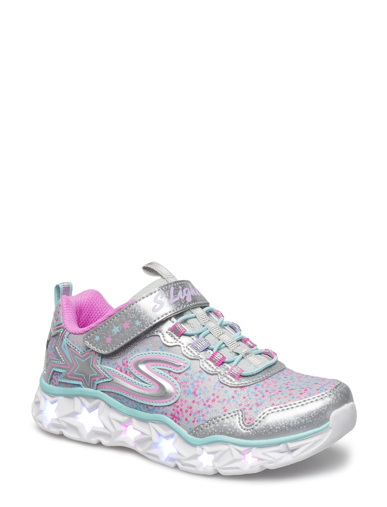 Skechers Girls Galaxy Light - SMLT SILVER MULTICOLOR