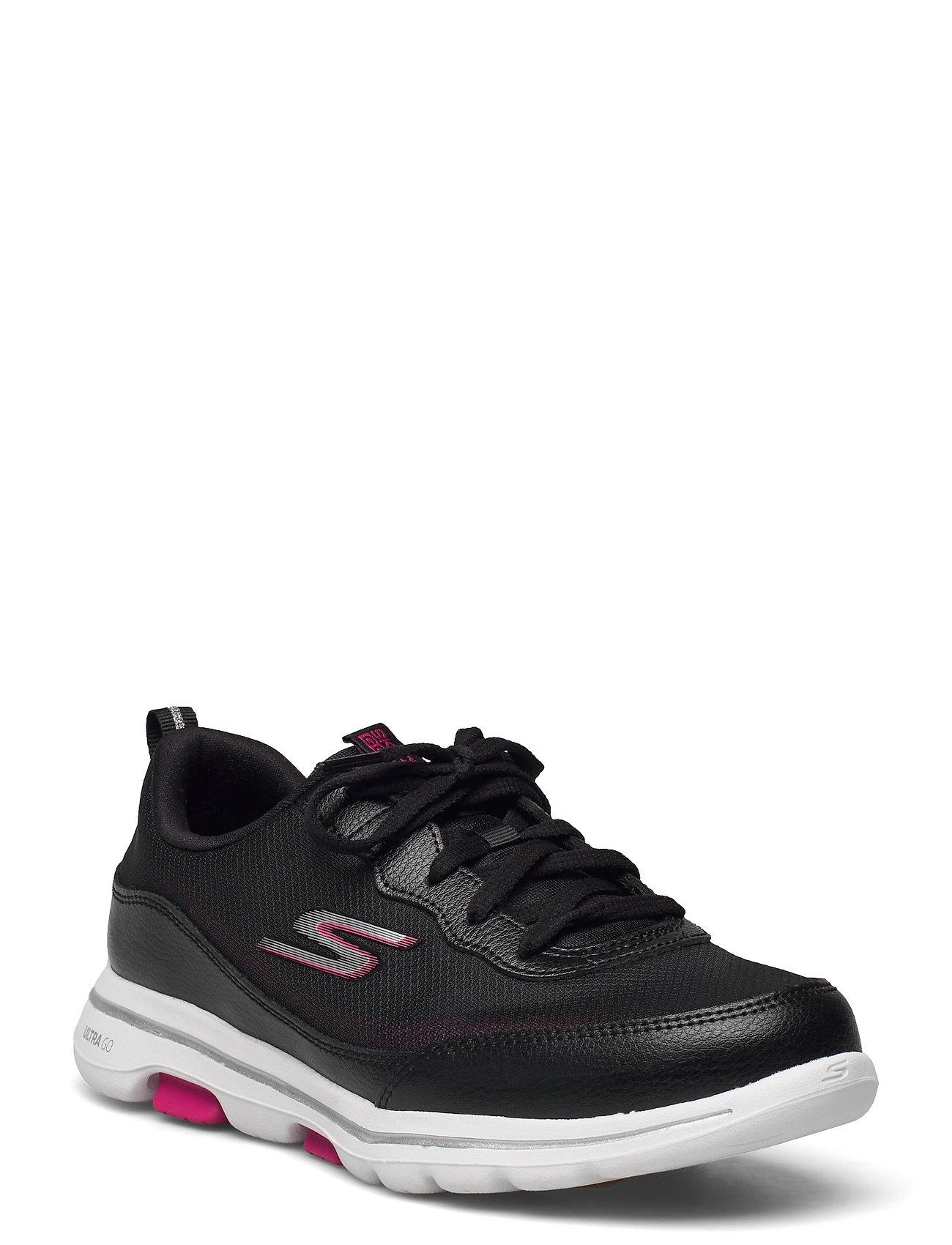 Womens Go Walk 5 - Perfect Step Low-top Sneakers Sort Skechers