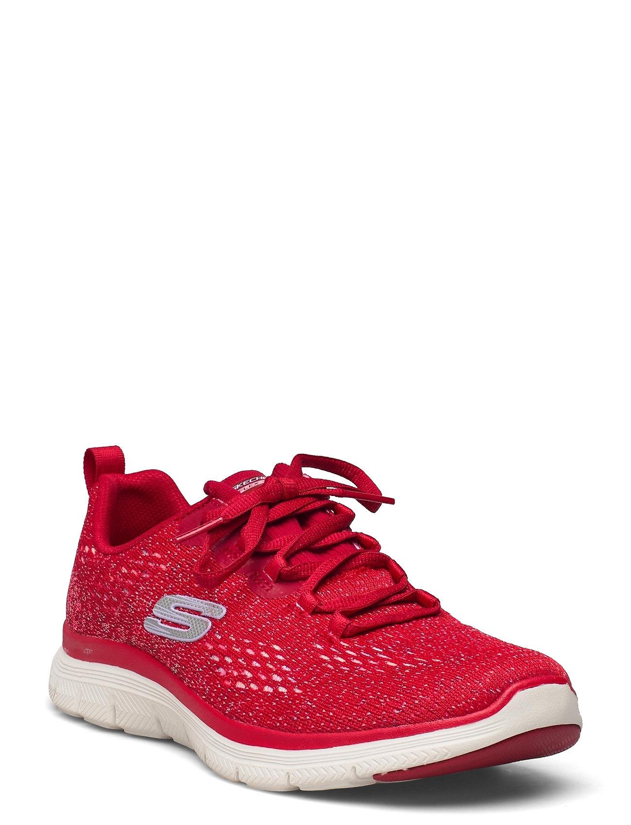 Womens Flex Appeal 4.0 - Vivid Spirit Low-top Sneakers Rød Skechers