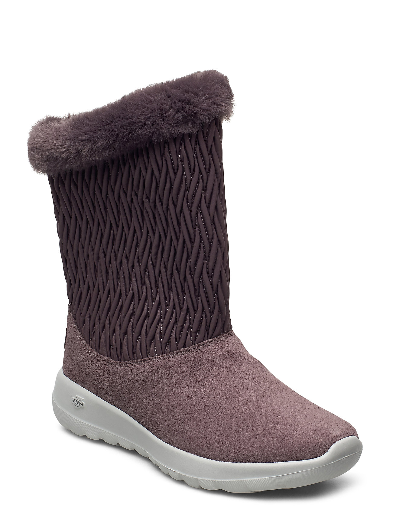 Image of Womens On-The-Go Joy - Snow Bunny Shoes Boots Ankle Boots Ankle Boot - Flat Lyserød Skechers (3441399919)