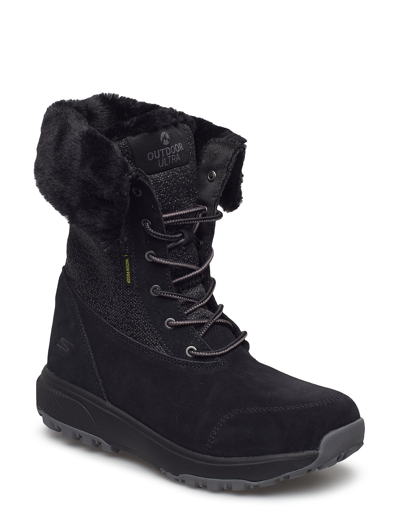 Image of Womens Outdoors Ultra - Waterproof Shoes Boots Ankle Boots Ankle Boot - Flat Sort Skechers (3439724851)
