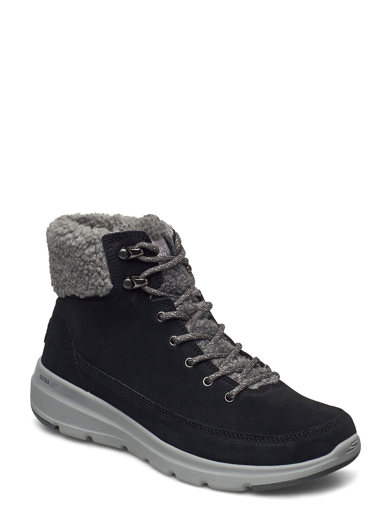Image of Womens On The Go Glacial Ultra - Woodlands Shoes Boots Ankle Boots Ankle Boot - Flat Sort Skechers (3443246539)