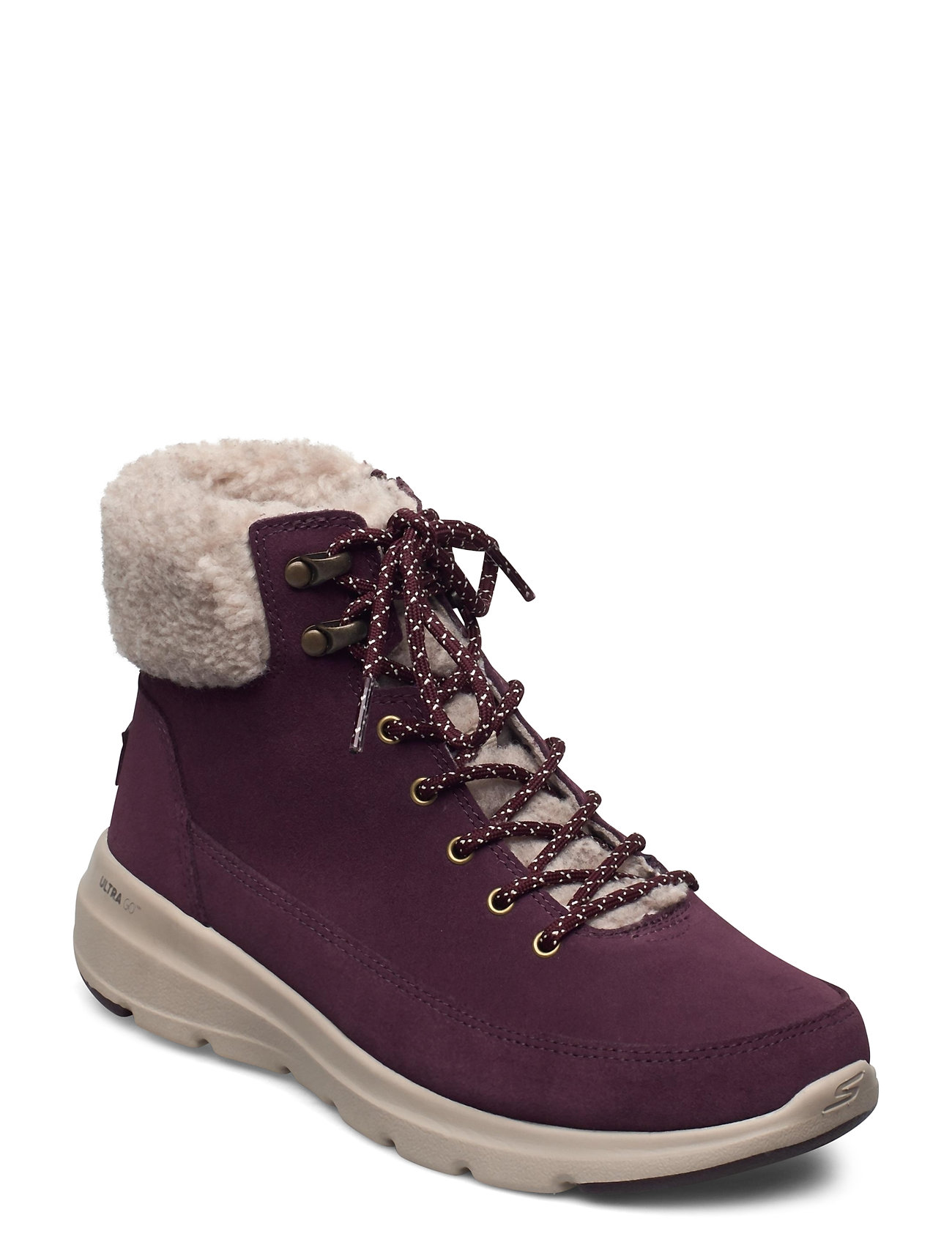 Image of Womens On The Go Glacial Ultra - Woodlands Shoes Boots Ankle Boots Ankle Boot - Flat Lilla Skechers (3460114831)