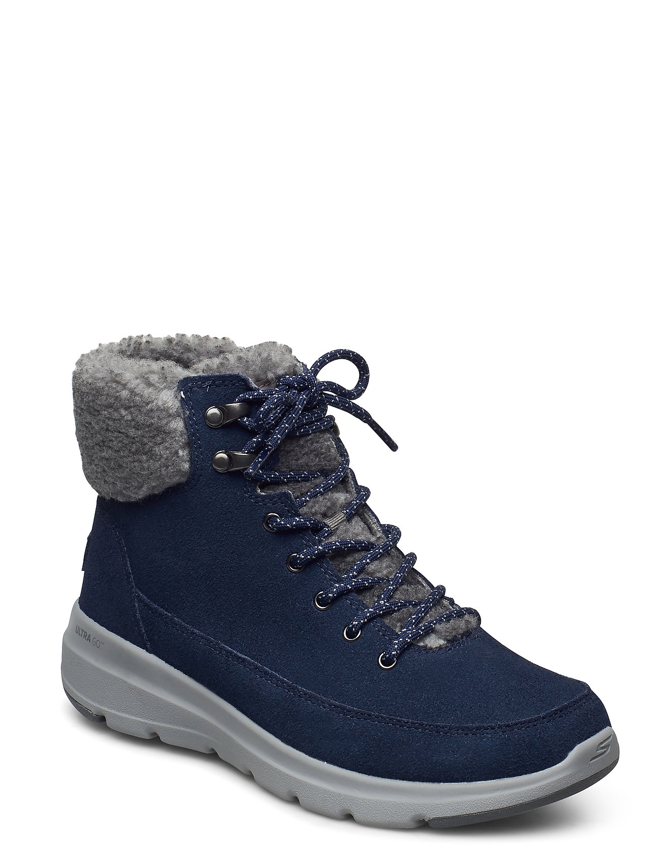 Image of Womens On The Go Glacial Ultra - Woodlands Shoes Boots Ankle Boots Ankle Boot - Flat Blå Skechers (3441399923)