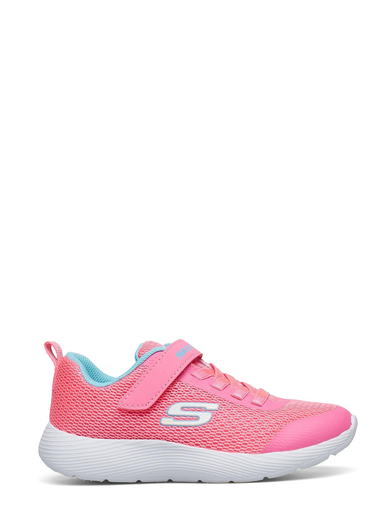 8bdd9934d53 Girls Dyna-Lite sneakers fra Skechers til børn i NPBL NEON PINK BLUE ...