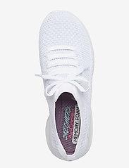 Skechers - Womens Ultra Flex - matalavartiset tennarit - wsl white silver - 3