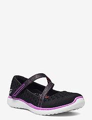 Skechers - Girls Microburst - One-up - ballerinaer og slip-ons - bkpr black purple - 0