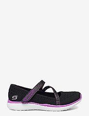 Skechers - Girls Microburst - One-up - ballerinaer og slip-ons - bkpr black purple - 1
