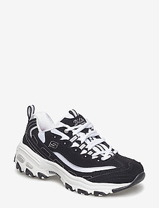 Womens D'Lites Biggest Fan - chunky sneakers - bkw black white
