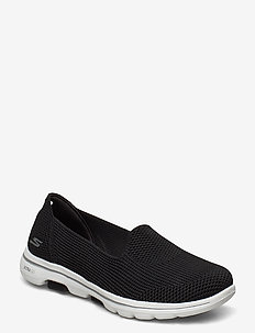 Womens GOwalk 5 - Blessed - slip on sneakers - bkw black white