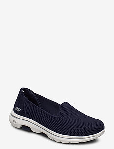 Womens GOwalk 5 - Blessed - slip on sneakers - nvw navy white