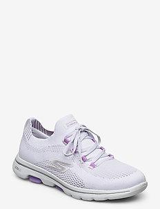 Womens Go Walk 5 - matalavartiset tennarit - wlv white lavender