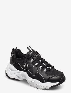 Womens D' Lites 3 - Zenway - lave sneakers - bkw black white
