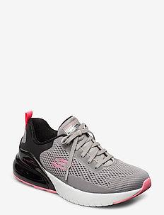 Womens Skech-Air Stratus - Wind Breeze - slip-on sneakers - gybk grey black