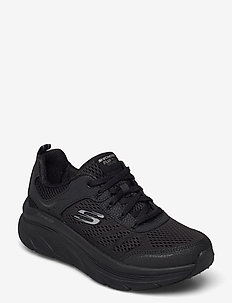 Womens Relaxed Fit: D'Lux Walker - Infinite Motion - lave sneakers - bbk black