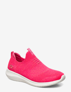 Womens Ultra Flex  - Candy Cravings - slip-on sneakers - ncor neon coral