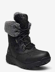 Womens Outdoor Ultra - Waterproof - niski obcas - bkgy black grey