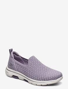 Womens Go Walk 5 - Brave - slip-on sneakers - lav lavender