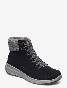 Womens On The Go Glacial Ultra - Woodlands - flate ankelstøvletter - bkgy black grey