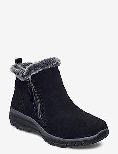 Womens Relaxed Fit Easy Going - High Zip - platta ankelboots - blk black