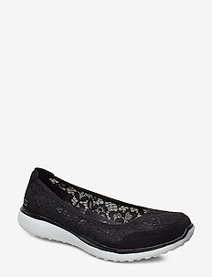 Womens Microburst - Sweeat Bloom - ballerinas - bkw black white