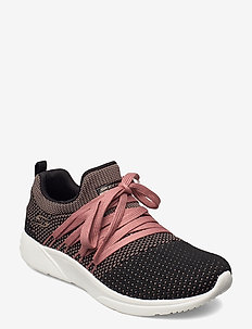 Womens BOBS Sparrow - Sneaker Club - matalavartiset tennarit - bkpk black pink