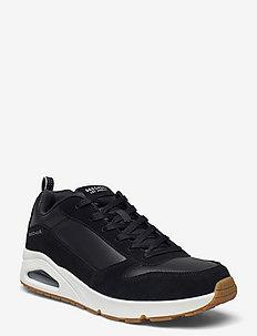 Mens Street UNO Stacre - laag sneakers - bkw black white
