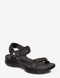 Mens GOwalk Outdoors - sandalen - bkgy black grey