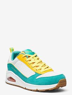 Womens UNO - låga sneakers - waq white aqua