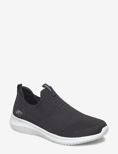 Womens Ultra Flex - First Take - lave sneakers - bkw black white