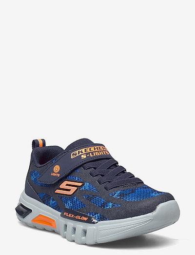 Boys Flex-Glow - Rondler - lave sneakers - nvor navy orange