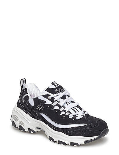 Womens D'lites Biggest Fan (Bkw Black White) (699.30 kr) Skechers |