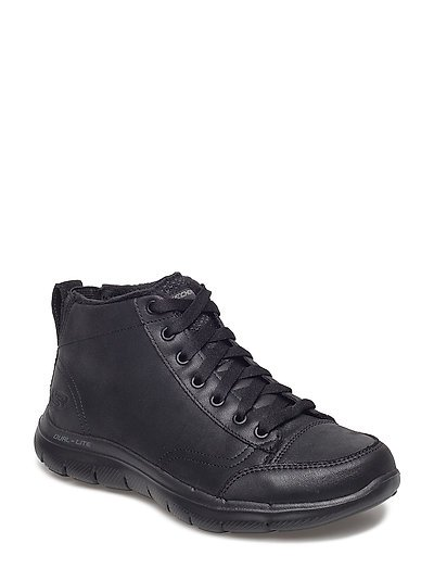 Womens Flex Appeal 2.0 - Warm Wishes Shoes Boots Ankle Boots Ankle Boot - Flat Schwarz SKECHERS