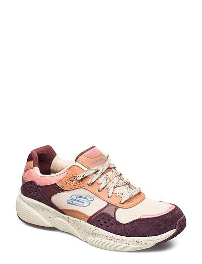 Womens Meridian Niedrige Sneaker Pink SKECHERS
