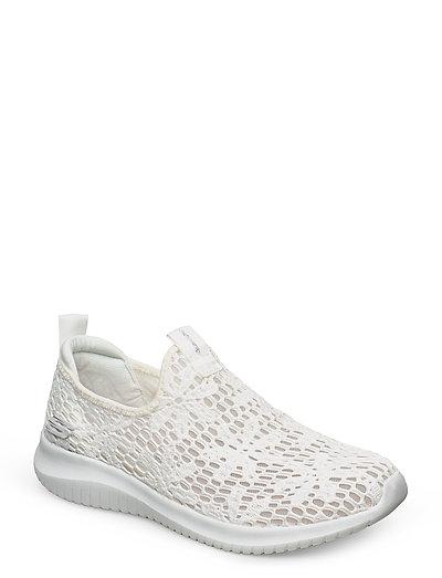 Womens Ultra Flex Sneaker Weiß SKECHERS