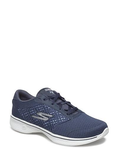 Womens Gowalk 4 Exceed (Nvw Navy White) (519.35 kr) Skechers |